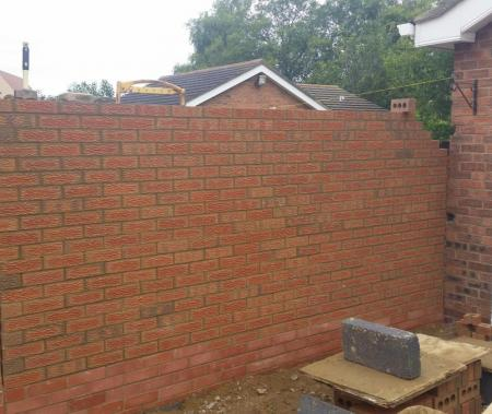 Example of privacy wall