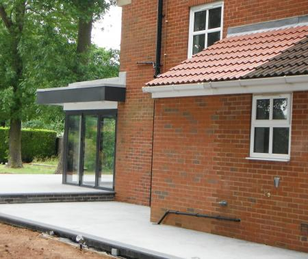 Extension to side of the house to increase the size of the utility room and boiler house