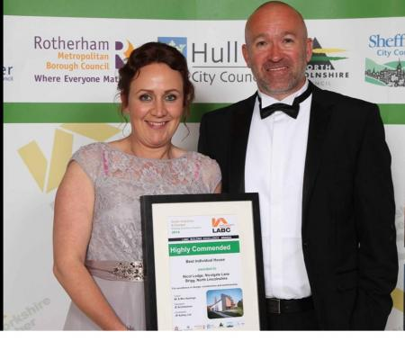 JP Ashley win an Award at the South Yorkshire & Humber LABC Building Excellence Awards in 2014