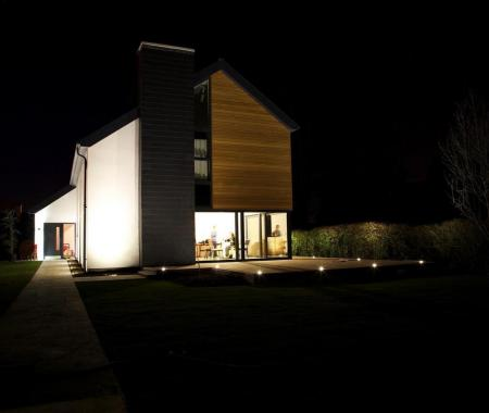 Finished property at night